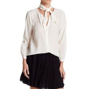 NWT Joie Nile Blouse In Porcelain